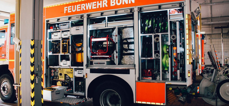 Fire truck at the Bonn fire department